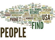 Find People In Usa Word Cloud Concept. Find People In Usa Text Background Word Cloud Concept Royalty Free Stock Photos