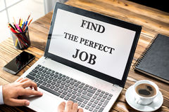 Find The Perfect Job Concept Royalty Free Stock Images