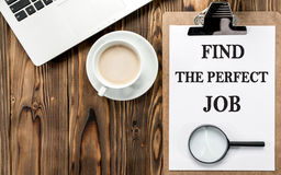 Find The Perfect Job Concept On Work Desk. In Office Royalty Free Stock Image
