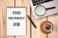 Find The Perfect Job Concept On Work Desk Royalty Free Stock Images