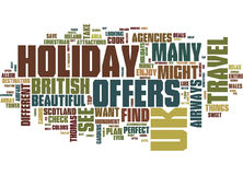 Find The Perfect Uk Holiday Offers Word Cloud Concept. Find The Perfect Uk Holiday Offers Text Background Word Cloud Concept Stock Photography