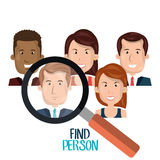 Find person design. Illustration eps10 graphic Stock Photos