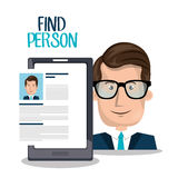 Find person design. Illustration eps10 graphic Stock Image