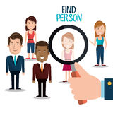 Find person design. Illustration eps10 graphic Royalty Free Stock Images