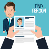 Find person design. Illustration eps10 graphic Stock Photography