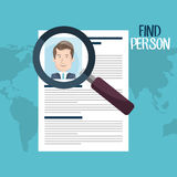 Find person design. Illustration eps10 graphic Royalty Free Stock Photography