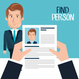 Find person design. Illustration eps10 graphic Royalty Free Stock Photos