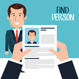 Find person design. Illustration eps10 graphic Stock Photo