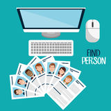 Find person design. Illustration eps10 graphic Royalty Free Stock Photo