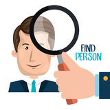 Find person design. Illustration eps10 graphic Royalty Free Stock Image