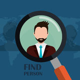 Find person and job interview Royalty Free Stock Photos