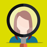Find person and job interview Royalty Free Stock Images