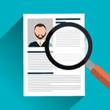 Find person and job interview. Graphic design, vector illustration Stock Photography