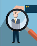 Find person and job interview. Graphic design, vector illustration Royalty Free Stock Photography