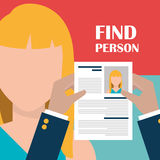 Find person and job interview Stock Photo