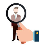 Find person and job interview Stock Images