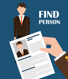 Find person and job interview Stock Image