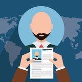 Find person and job interview Royalty Free Stock Photo