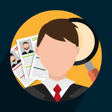 Find person and job interview Royalty Free Stock Photography