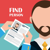 Find person and job interview Royalty Free Stock Image