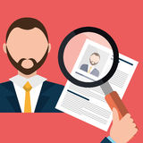 Find person and job interview. Graphic design, vector illustration Royalty Free Stock Photos