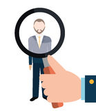Find person and job interview. Graphic design, vector illustration Royalty Free Stock Images