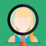 Find person and job interview. Graphic design, vector illustration Stock Images