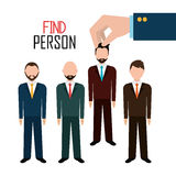Find person for job opportunity design Royalty Free Stock Photos