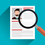 Find person for job opportunity design Royalty Free Stock Images