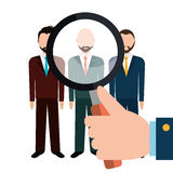 Find person for job opportunity design Stock Image