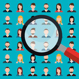 Find person for job opportunity design Stock Photo