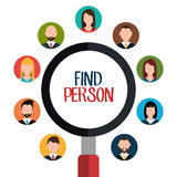 Find person for job opportunity design Royalty Free Stock Image