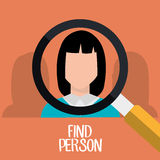 Find person for job opportunity design. Find person for job opportunity, vector illustration design Stock Photo