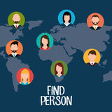 Find person for job opportunity design Stock Photography