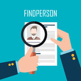 Find person for job opportunity design. Find person for job opportunity, vector illustration design Royalty Free Stock Photos