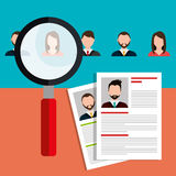 Find person for job opportunity design. Find person for job opportunity, vector illustration design Royalty Free Stock Images