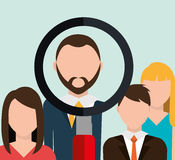 Find person for job opportunity design Stock Photos