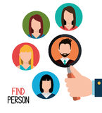 Find person to get a job. Design, vector illustration eps10 Stock Images
