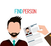 Find person to get a job. Design, vector illustration eps10 Royalty Free Stock Image