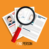 Find person to get a job. Design, vector illustration eps10 Royalty Free Stock Photos