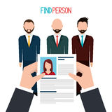 Find person to get a job. Design, vector illustration eps10 Royalty Free Stock Photo
