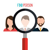 Find person to get a job Stock Images