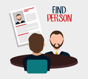 Find person to get a job Stock Photography