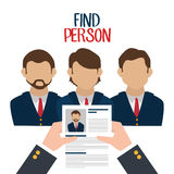 Find person to get a job Stock Photos
