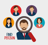 Find person to get a job Stock Photo