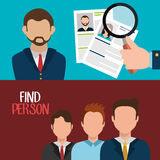 Find person to get a job Stock Image