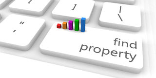 Find Property. As a Fast and Easy Website Concept Royalty Free Stock Photos