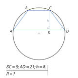 Find the radius R of the circle Stock Image