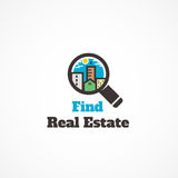Find real estate. The logo on the subject property Royalty Free Stock Photos
