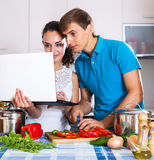 Find recipes online Royalty Free Stock Photos